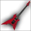 Oddelenie elektrické gitary typ Hard & Heavy