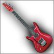 Oddelenie elektrické gitary pre ľavákov