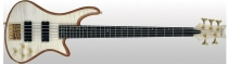 Schecter Stiletto Custom-5, Natural Satin, Satin Gold HW