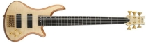 Schecter Stiletto Custom-6, Natural Satin, Satin Gold HW