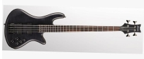 Schecter Stiletto Studio-4, See-Thru Black Satin, Black Chrome HW